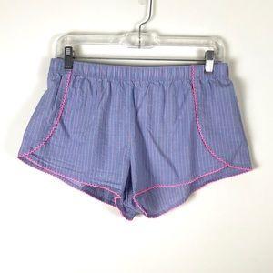 Victoria's Secret Blue Striped Pajama Shorts - M